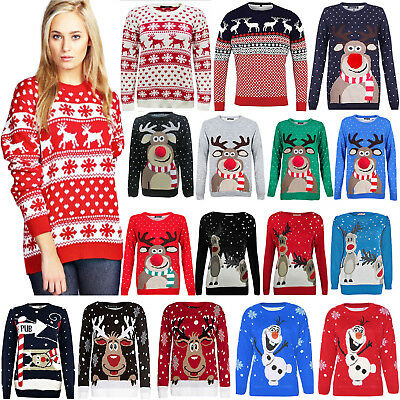 Christmas Jumpers Mens Womens Ladies Xmas Novelty Vintage Unisex Retro Sweater