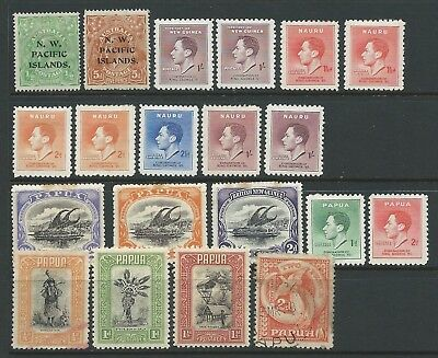 Collection of mounted MINT Australian Dependancies stamps.