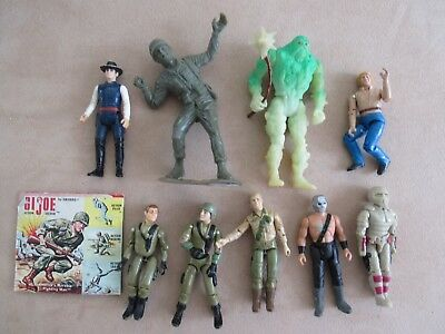 Mixed Lot of 1980's Vintage GI Joe and Miscellaneous Action Figures