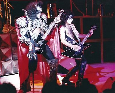 KISS Lot of 11 8x10 Glossy Color Photos- Gene Simmons, Paul Stanley, Ace Frehley