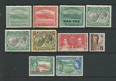 Small collection of Dominica stamps.