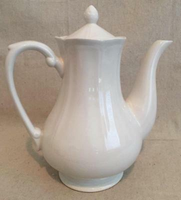 Vintage 4 Cup Federalist Ironstone by Sears #4328 All White Coffee Pot