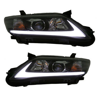 10-11 Toyota Camry Headlights w/ LED DRL & Sequential Turn Signal