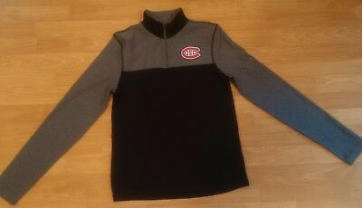 REEBOK Montreal Canadiens 1/4 Zip Compression L/S Shirt  - Black - S - NEW