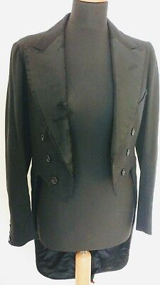 antique vintage edwardian mens tailcoat 1920's tailored project costume