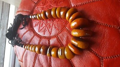 African tribal jewelry Berber resin graduated beads Necklace from Morocco
