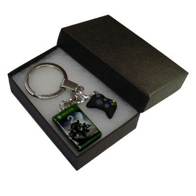 Handmade Fimo XBOX Gaming Keyring Destiny 2 Game & Controller - Gift Boxed