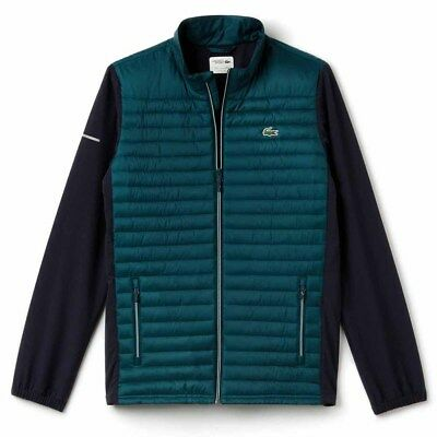 Lacoste Sport Quilted Small Mens Jacket>Brand New>Genuine Teal/blue