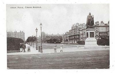 Nice Printed Postcard Of Grand Avenue Hove Sussex Posted 1926