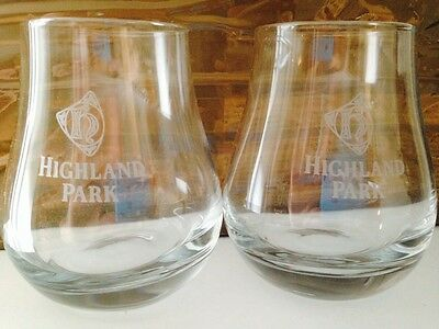 Highland Park Scotch Malt Whisky Glasses X 6 Brand New