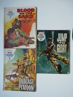 3 x WAR PICTURE LIBRARY ,Nos. 205 - 238 - 444 ( 1963 - 65 )