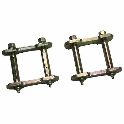 2 Rear Leaf Spring Greasable Shackles fit Nissan Patrol GU 4X4 Cab Chassis 99-14