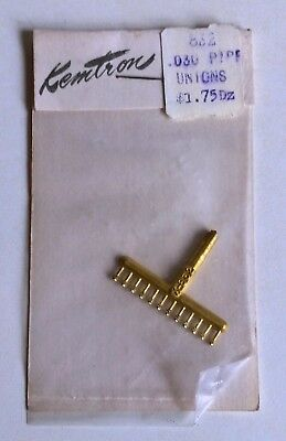 US HO Loco Detail Parts - Kemtron 832 Lost Wax Brass .03 Pipe Unions. Unused MIP
