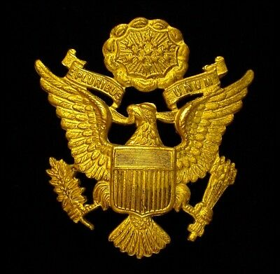 WWII WW2 US Army & Army Air Force Officer Cap Badge by JR Gaunt - Eagle
