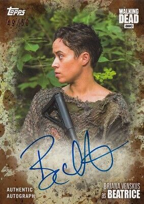The Walking Dead Season 7 - Briana Venskus (Beatrice) Mud Autograph A-Bv 49/50