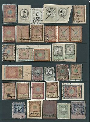 Austria Interesting Lot Early Fiscals Seldom Seen In Quantity Mixed Condition