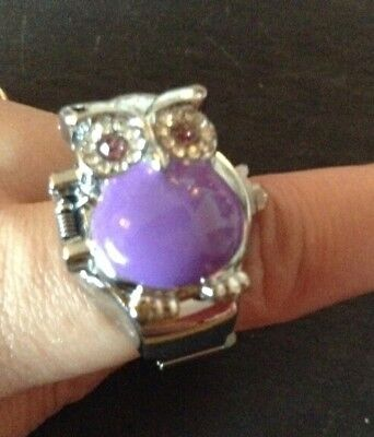 Creative Retro Owl Finger Clamshell Ring Watch