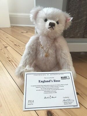 Steiff Bears 'England's Rose' Limited Edition Number 2514