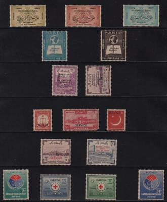 PAKISTAN: Mounted Mint Examples - Ex-Old Time Collection - Album Page (11300)