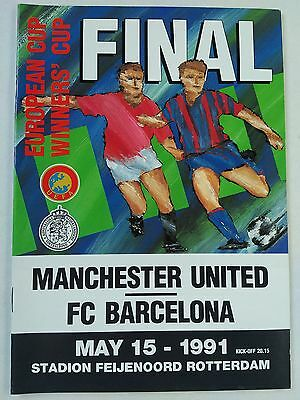 1991 Cup Winners Cup Final Barcelona v Manchester United CHEAPEST ON EBAY. Mint