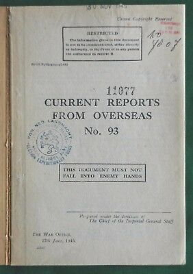Reports From Overseas 93 Kings African Rifles Chaungzon