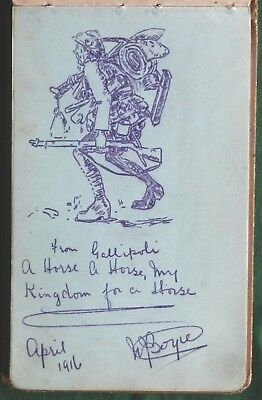 WORLD WAR I SOLDIER'S NOTEBOOK SKETCHES POEMS etc 1915 to 1917 REMARKABLE