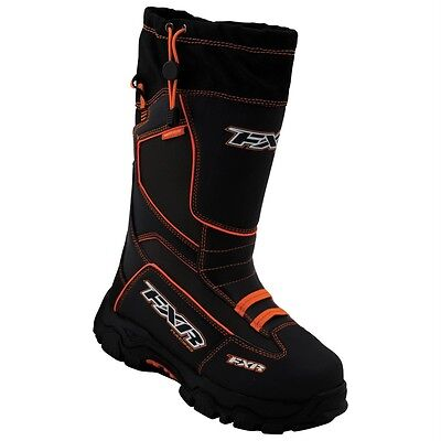 FXR EXCURSION ADULT Black / Orange WARM WINTER SNOW BOOTS - Sizes 5 - 7 - 10 -12