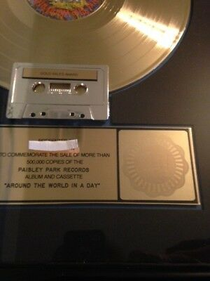 """Prince RIAA gold record award """"Around the World in a Day"""" lp"""