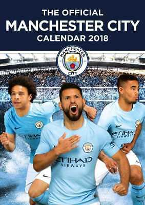 Manchester City Football Club Official 2018 A3 Wall Calendar Calender MCFC Man