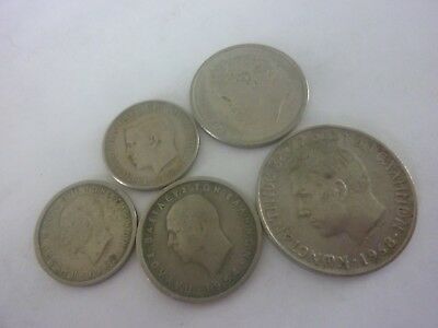 5  Greek Coins FROM 1954