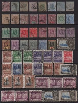 SIERRA LEONE: Victoria-George V - Ex-Old Time Collection - Album Page (11318)