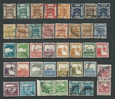 Collection of good used Palestine stamps.