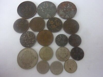 Sweden, Norway,  Lot Of Coins  1919 1942