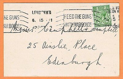 GB 1918 London WC early slogan cancellation