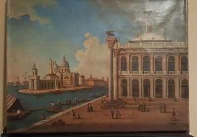 19th century oil on canvas - venetian - signed