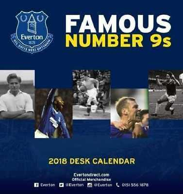 Everton Football Club Official 2018 Desk Easel Calendar Calender EFC Toffees
