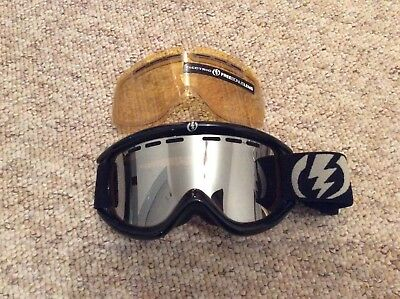 Electric Snow Goggles EG1 - Black Frame With Tinted Lens - Spare Yellow Lens