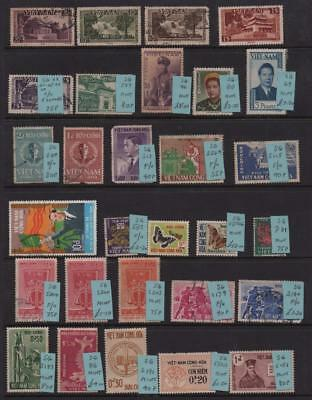 VIETNAM: Used/Unused Examples - Ex-Old Time Collection - Album Page (11317)