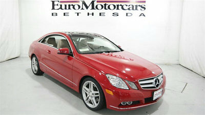 2011 Mercedes-Benz E-Class E 350 2dr Coupe E350 RWD mercedes benz 11 e 350 coupe coup navigation low miles used 2 door  mars red