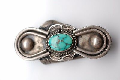 Turquoise Bolo Tie Holder in Sterling Silver