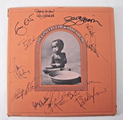 The Concert for Bangladesh Signed Autographed Record Billy Preston Bob Dylan