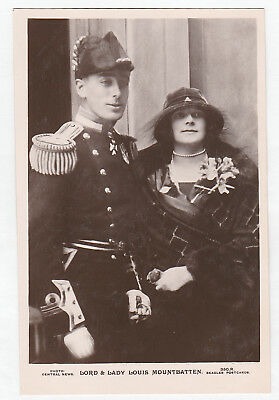 Rare Royalty postcard. Lord and Lady Louis Mountbatten 1923