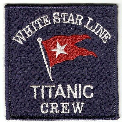 + Aufnäher Patch TITANIC CREW WHITE STAR LINE