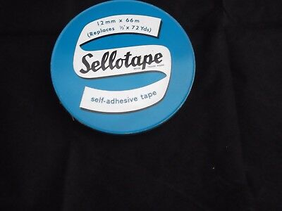 "Vintage Sellotape Tin (Replaces 1/2"" x 72 Yds) - 12 mm x 66 m (T108)"