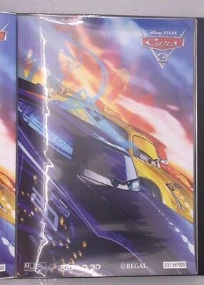 Cars 3 Disney Pixar Animated Le Limited Edition  13 X 19 Regal Print Real 3D Ad