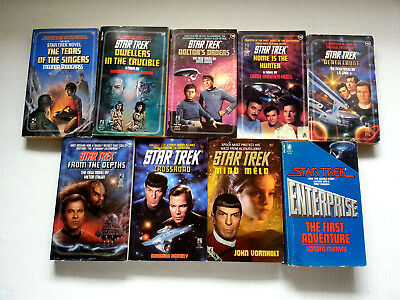 STAR TREK TOS Book Lot of 8 PB - Original Series