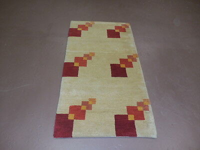 2.6x4.7  BREATHTAKING HAND MADE WOOL PERSIAN GABBEH VEG DYES RUG