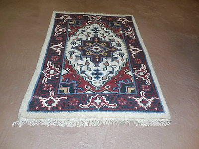 2x3  BREATHTAKING HAND MADE WOOL PERSIAN  SERAPI HERIZ VEG DYES RUG