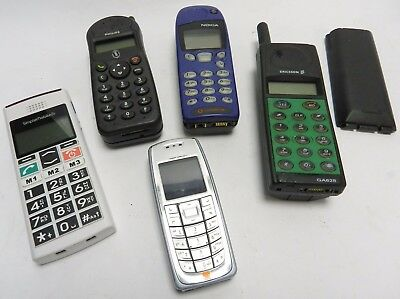 Job Lot Of vintage Mobile Phones - ,Philips Nokia, Sony Ericsson