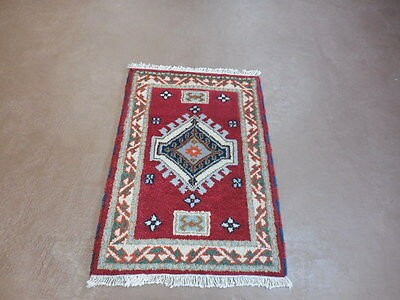 2x3  BREATHTAKING HAND MADE WOOL PERSIAN KAZAK  SERAPI HERIZ VEG DYES RUG